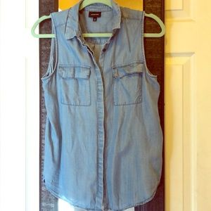 Chambray tank button up